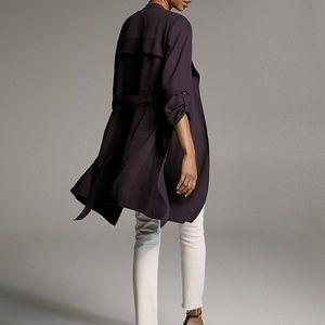 Babaton Jackets & Coats - Babaton Flowy Black Trench Coat